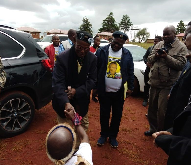 Amid national contest, Buthelezi campaigns for control of local council