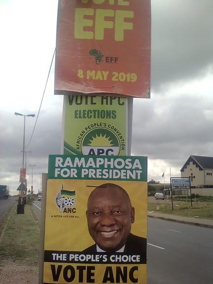 APC accuses EFF, ANC of removing posters in Alex