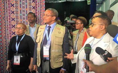 """Impressive!"" says ex-Tanzania President of SA Voting"