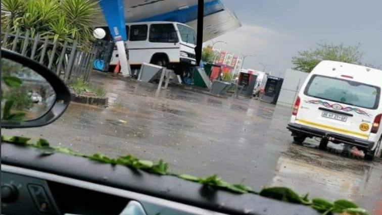 Sharpville petrol station collapses due to severe storm